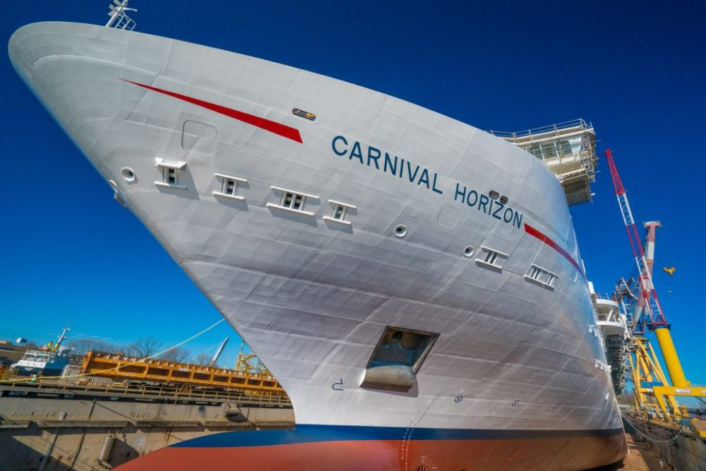 carnival s next cruise ship completes construction milestone