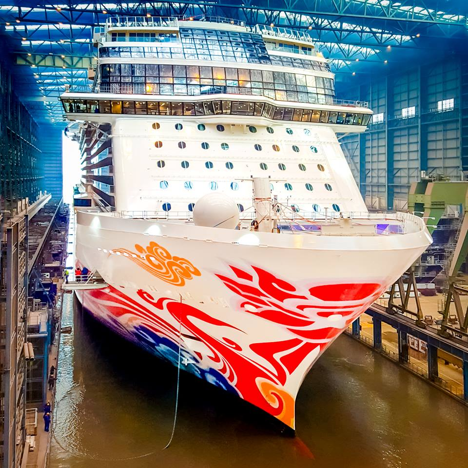 Norwegian Cruise Line Floats Out Newest Cruise Ship