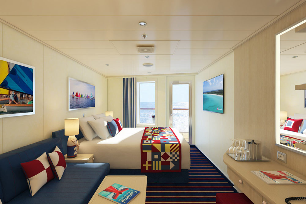 Carnival introducing new stateroom category for Balcony room cruise ship