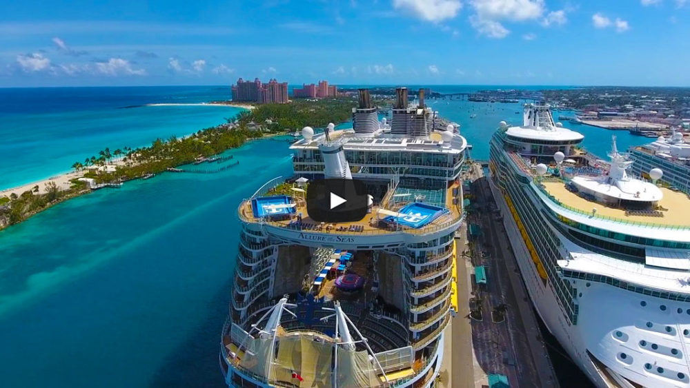 Amazing drone video of cruise ships in nassau bahamas - Cruise port nassau bahamas ...