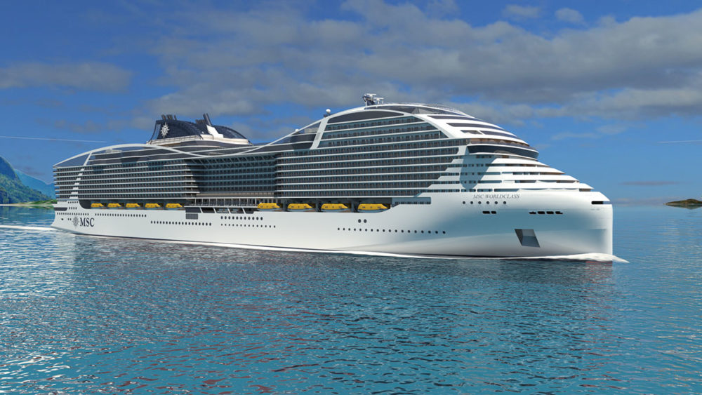 msc confirms order for 4 world class cruise ships that