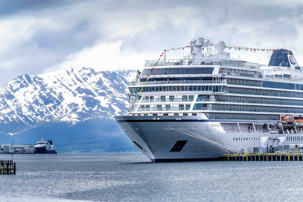 Viking Christens Third Ocean Cruise Ship Viking Sky