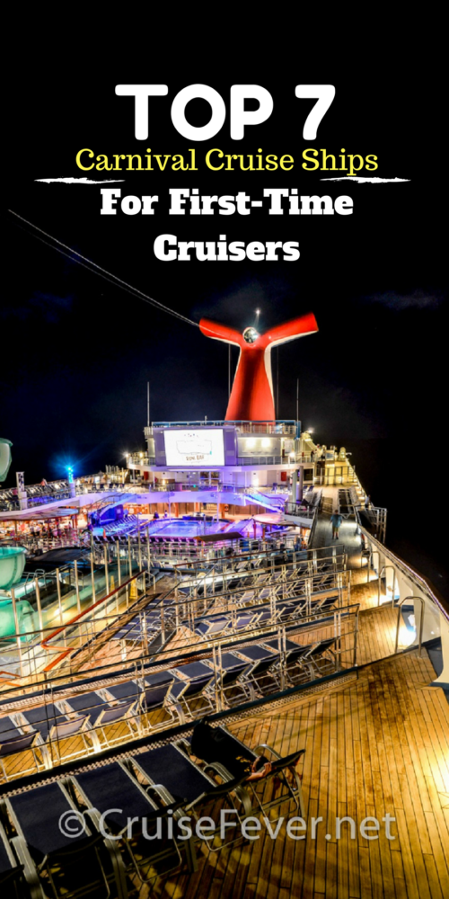 Top 7 carnival cruise ships for first timers