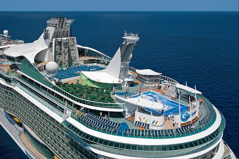 Royal Caribbean Cruise Ship Receiving Water Slides Laser Tag And - Cruise ship caribbean