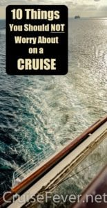 dont worry on a cruise