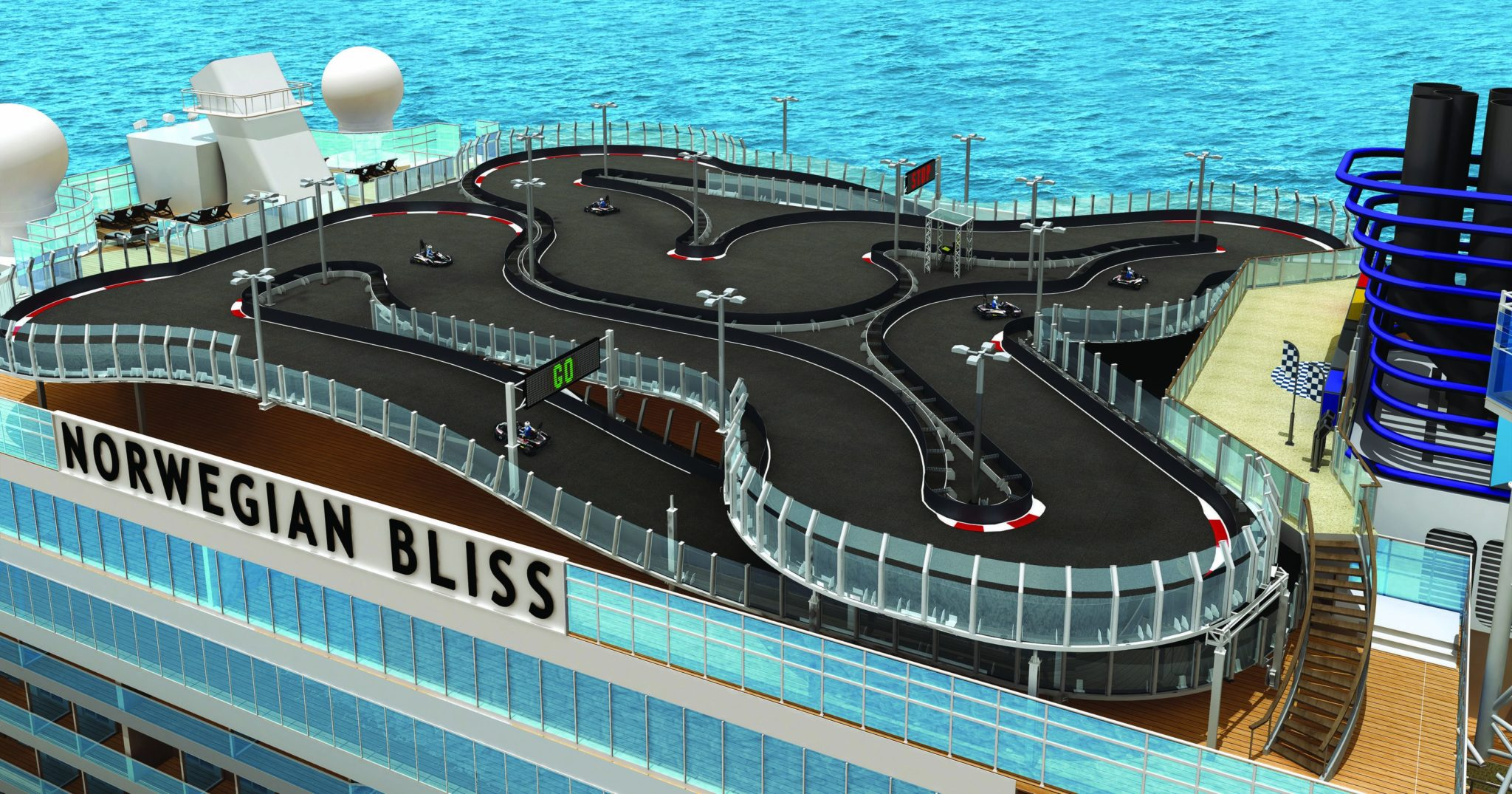 Norwegian confirms race track for new ship