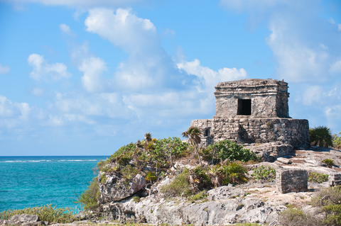 Tulum ruins on Cozumel, Mexico