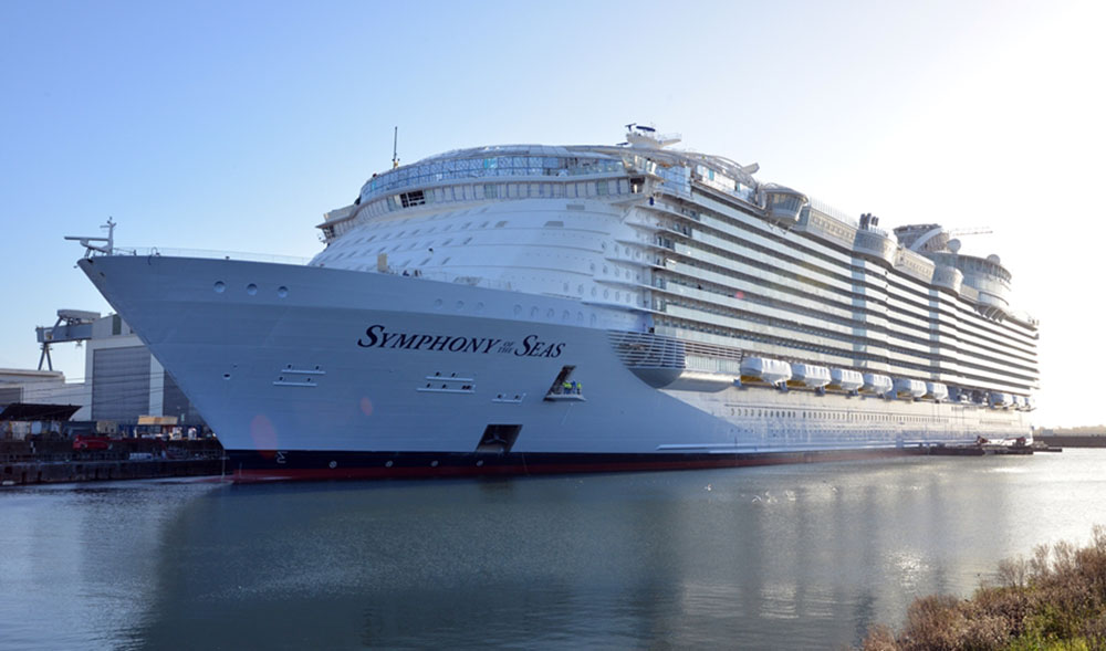 Largest Cruise Ship Ever Built Nears Completion Debuts Next Month - Biggest cruise ship ever compared to titanic