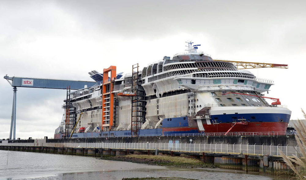 S Most Anticipated New Cruise Ship Floats Out Of Dry Dock - How do cruise ships float