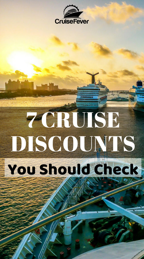 Use this checklist for cruise discounts before your next cruise.  A lot of cruisers go on vacation without making sure they can save even more money.  Here are 7 cruise discounts everyone should know.  #cruisefever #cruisetip #cruisediscount #savemoney #vacation #cruisetravel