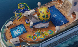 Royal Caribbean Cruise Ship Receiving Water Slides, Laser Tag, Sky Pad, and Escape Room