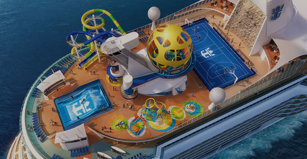 Royal Caribbean Cruise Ship Receiving Water Slides Laser Tag Sky Pad And Escape Room