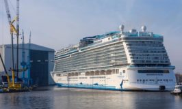Norwegian's Giant New Cruise Ship Floats Out of Dry Dock