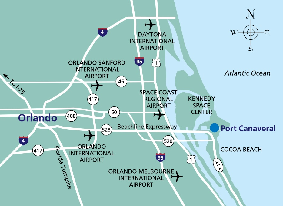 airports near port canaveral cruise port