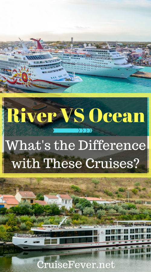 Both ocean cruising and river cruising provide wonderful ways to see the world, but they are two extremely different styles of travel.  Here are some things that make these cruises difference to help you decide which one is for you.  #cruisefever #oceancruise #rivercruise #cruise #cruising #cruisetips #cruiseships