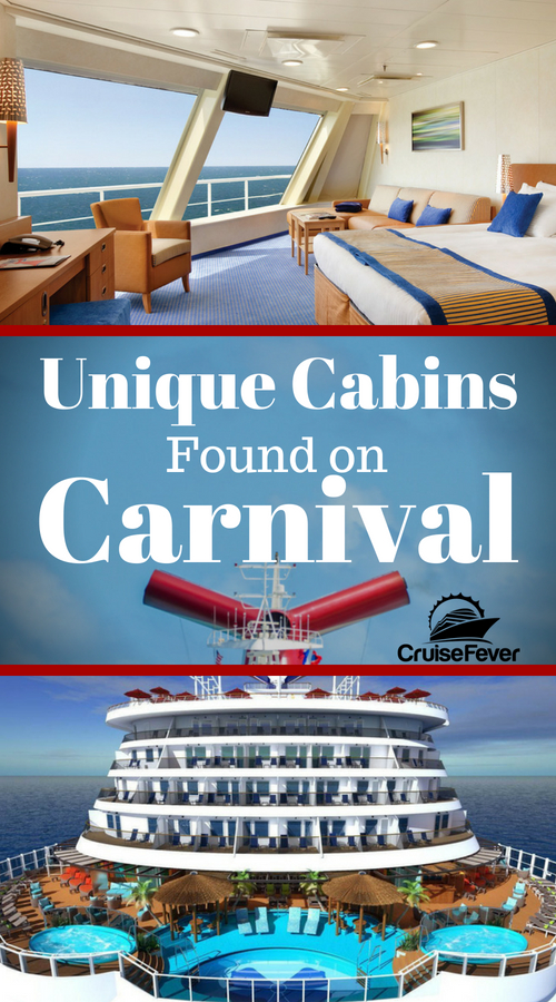 Let's check out some cruise cabins you will only find on Carnival cruise ships in this post.  Which kind of cabin would you like?  Let us know.  From Harbor staterooms to Havana staterooms there are a few unique options with Carnival. #cruise #cruisefever #cruiseship #carnivalcabins #carnivalstaterooms #carnival