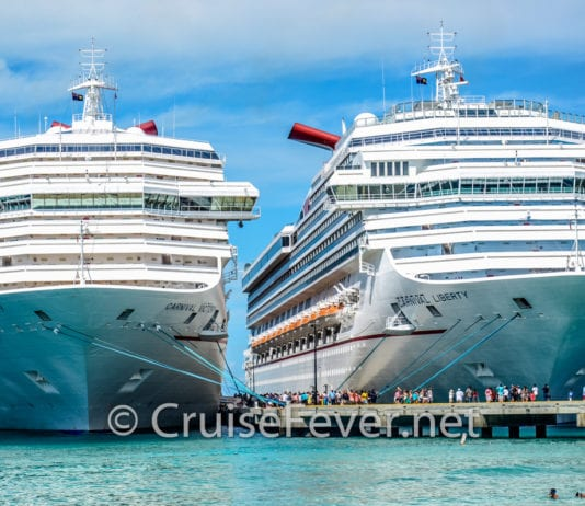 Carnival Cruise Line currently has 26 cruise ships in service.