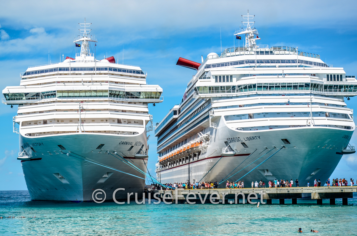 Carnival Cruise Line currently has 27 cruise ships in service.