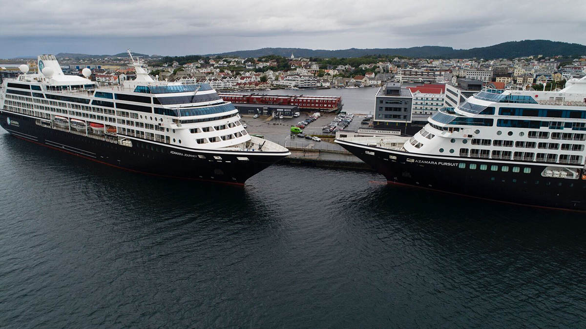 Azamara's Newest Cruise Ship Meets Sister Ship on Maiden Voyage (cruisefever.net)