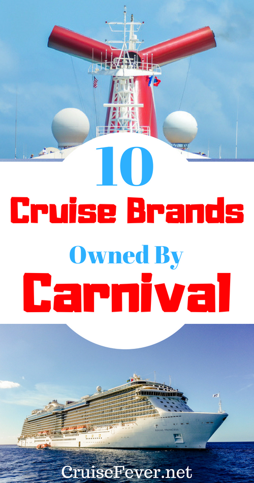 The parent company of Carnival owns 10 cruise brands.  Do you know all of them?  Here are all the cruise lines owned by Carnival Corporation.  #cruisefever #carnival #carnivalcruiseline #cruiseline