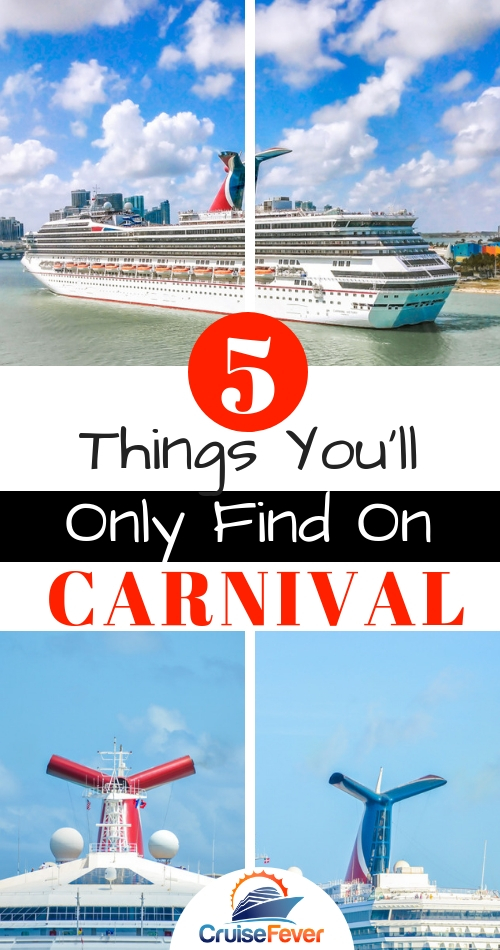 Carnival Cruise Line has over two dozen ships that appeal to all kinds of cruisers.  These are 5 things you can only do on a Carnival cruise ship and why... #cruise #cruisefever #carnival #carnivalcruise #cruiseship #carnivalcruiseline