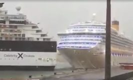 Cruise Ship Hits Another Ship Due to High Wind