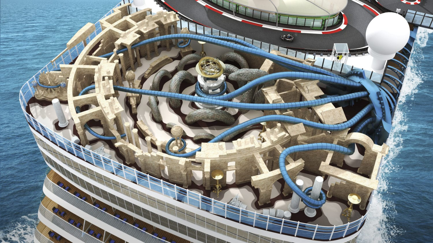 New Norwegian Cruise Ship To Feature A Race Track Laser