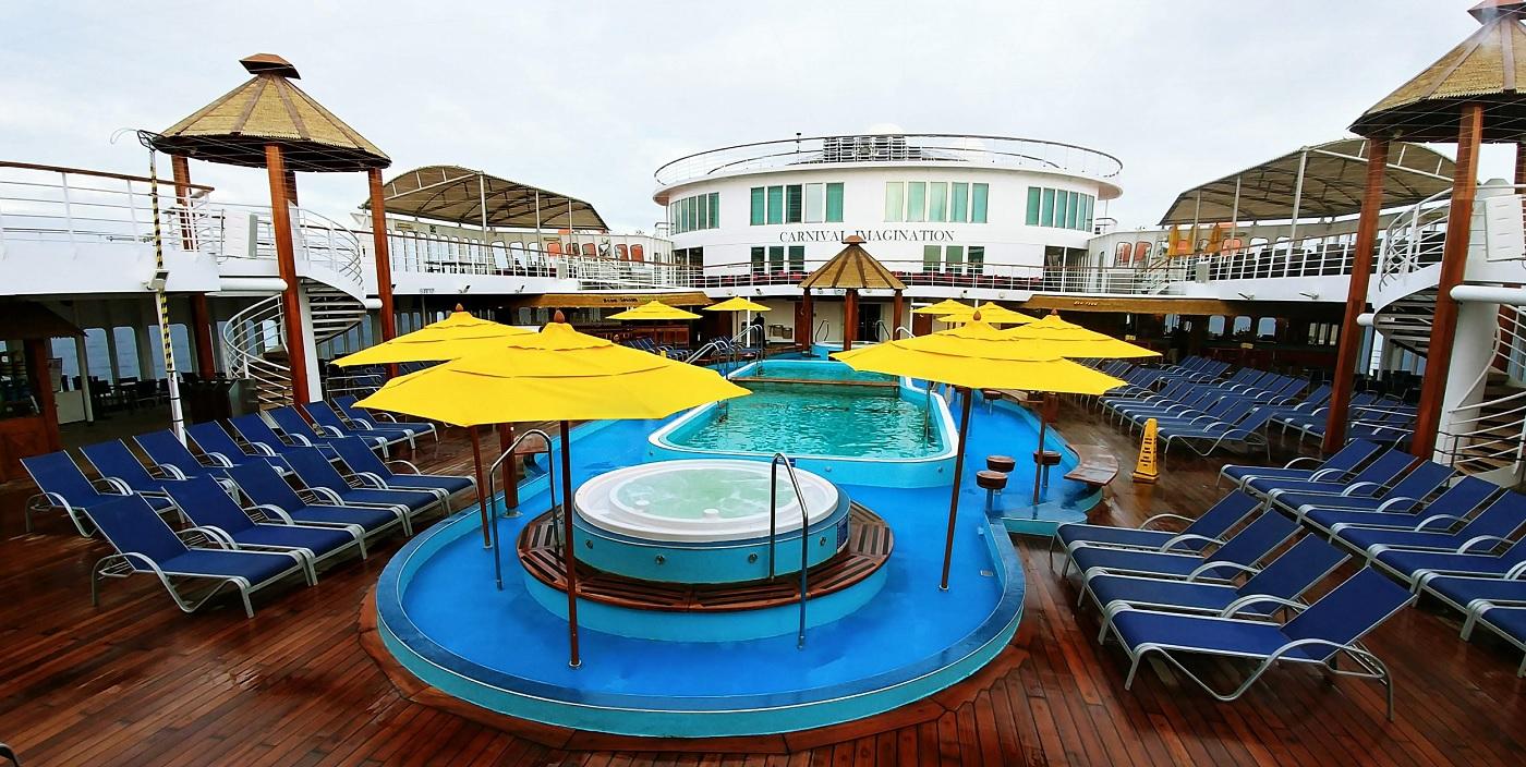 carnival imagination pool deck