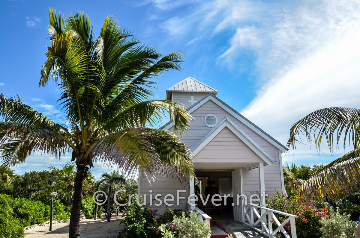 Bahamian church on half moon cay