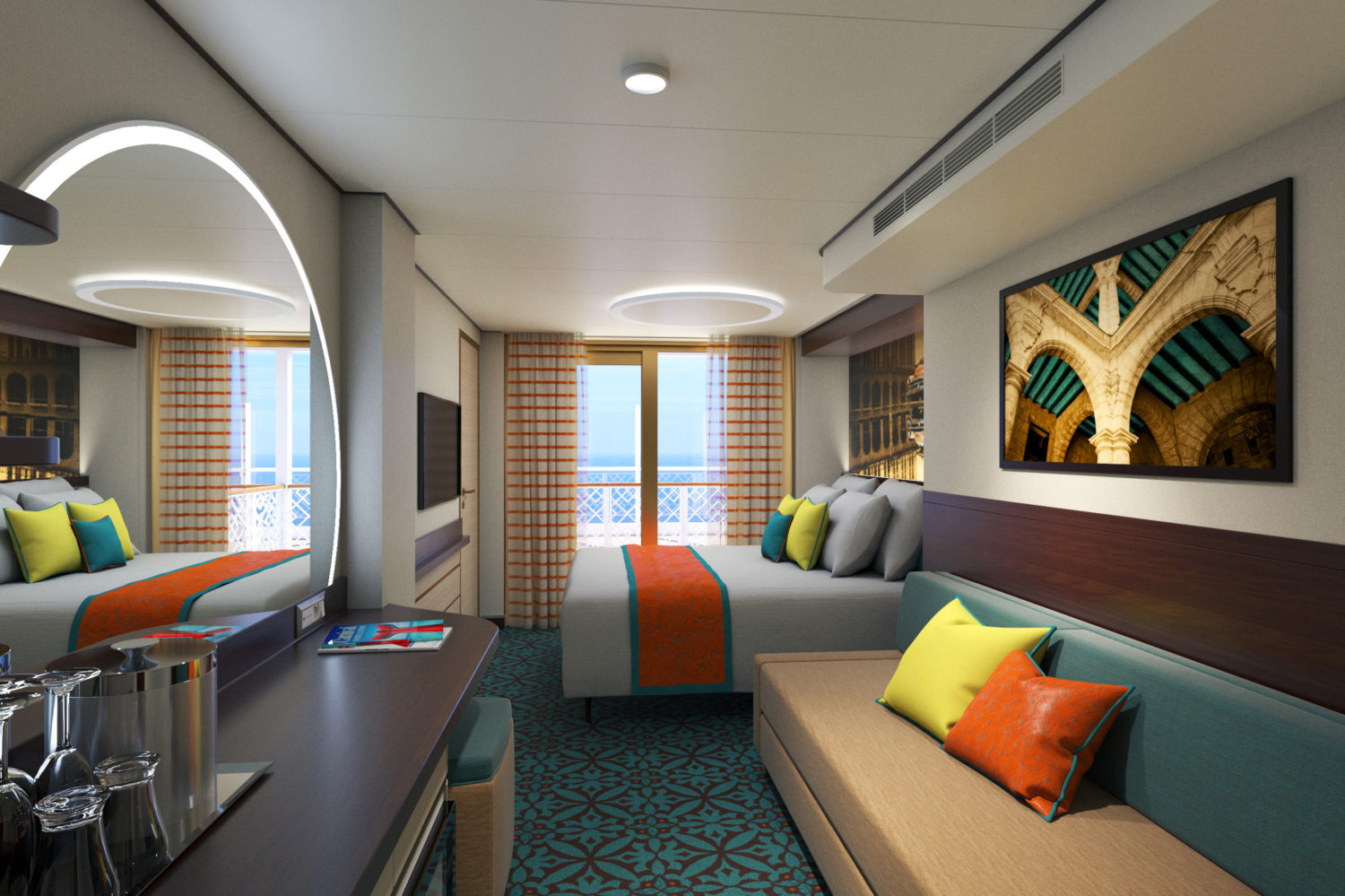 Carnival S New Cruise Ship Mardi Gras Will Feature New Stateroom Design