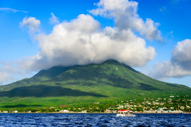 Nevis island next to st kitts