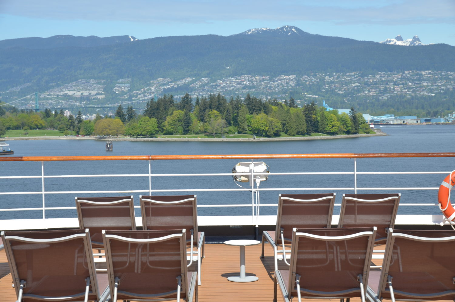 stanley park from cruise ship