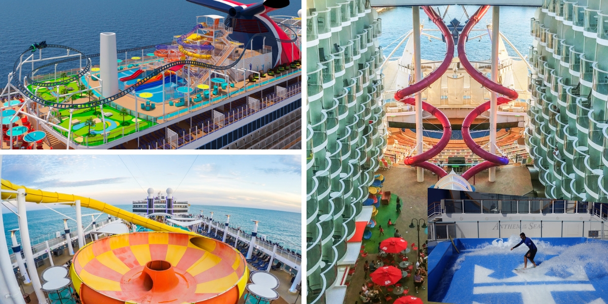 compare cruise ship activities on board