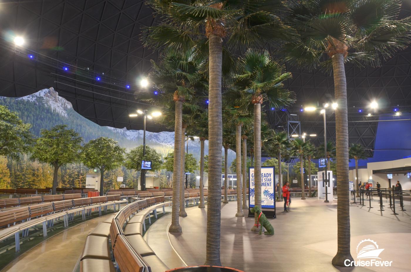 long beach cruise terminal inside