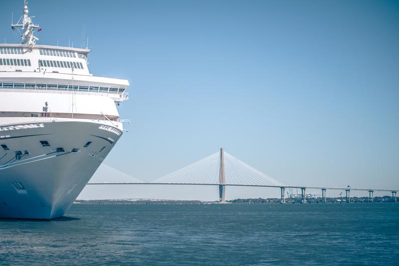 cruise ship in port of charleston