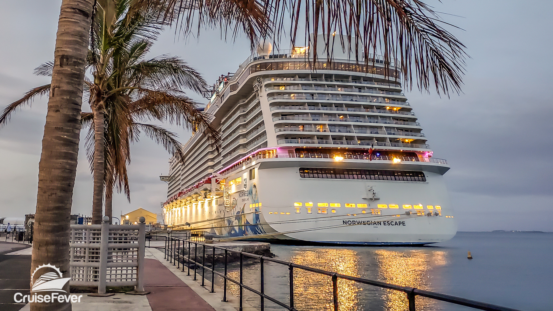 norwegian escape in port at Bermuda