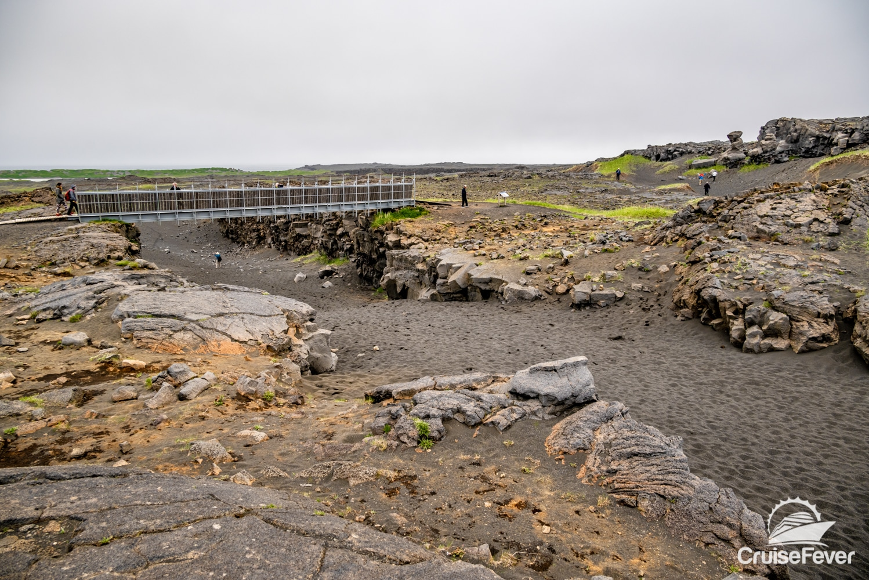 bridge between Eurasia plate and north american plate