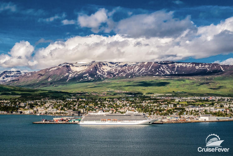 Akureyri, Iceland ship in port