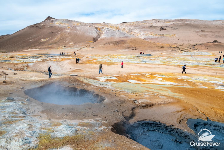 Hverir steamy geothermal mudpits