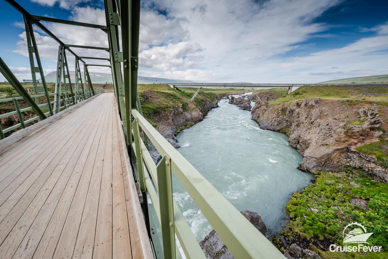 Goðafoss Waterfall bridge