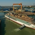Viking's Second Expedition Ship, Viking Polaris, Touches Water for the First Time